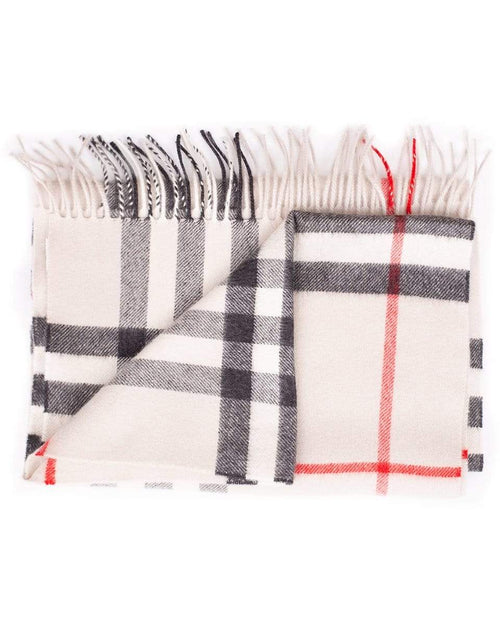 BURBERRY ACCESSORIESCARVES STONE Giant Check Cashmere Scarf