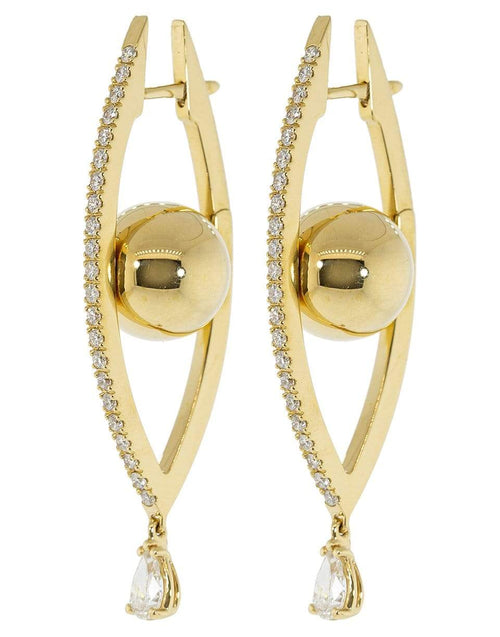 CADAR JEWELRYFINE JEWELEARRING YLWGOLD Reflections Hoop Earrings