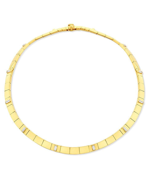 CADAR JEWELRYFINE JEWELNECKLACE O YLWGOLD White Diamond Sole Necklace