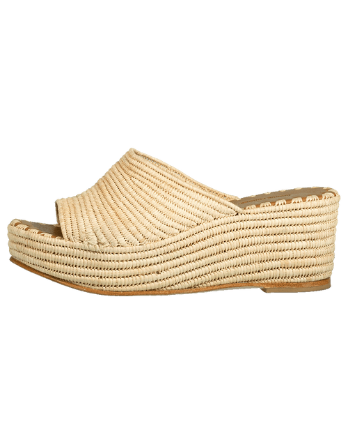CARRIE FORBES SHOESANDAL Woven Wedge Slide