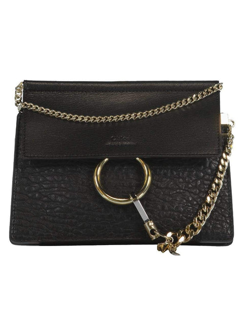 CHLOE HANDBAGSHOULDER BLACK Faye Mini Shoulder Bag
