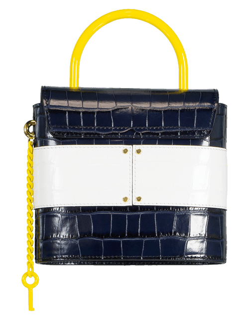 CHLOE HANDBAGSHOULDER BLU/YLLW Blue and Yellow Small Aby Lock Bag