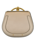 CHLOE HANDBAGSHOULDER GREY Nile Smooth Suede Bag