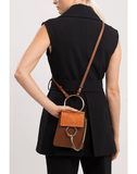 CHLOE HANDBAGSHOULDER TOBACCO Faye Mini Crossbody Bag