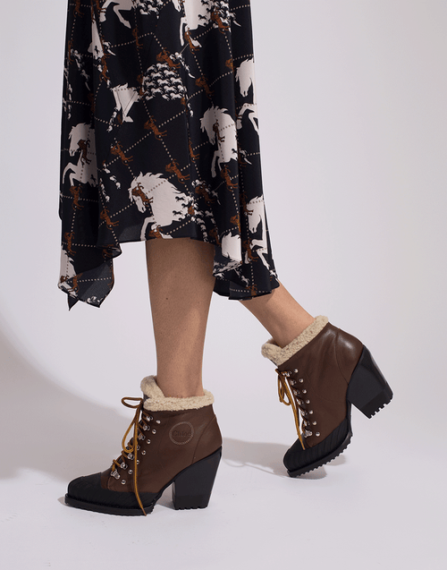 CHLOE SHOEBOOT Rylee Shearling Lace Up Boot