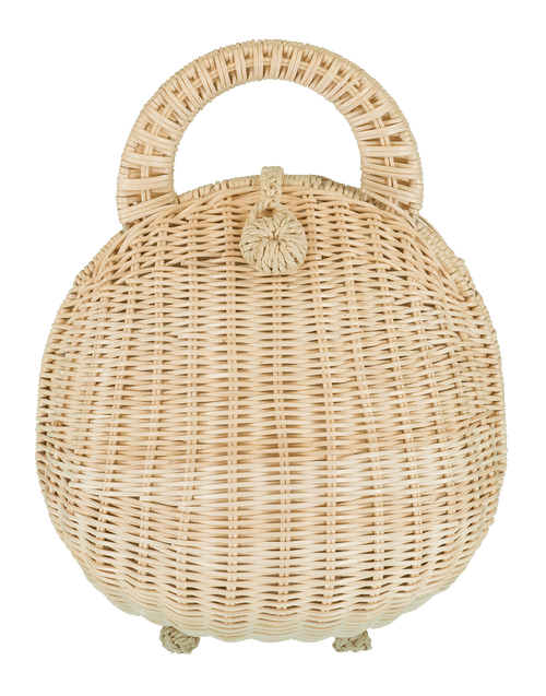 CULT GAIA HANDBAGTOP HANDLE NATURAL Millie Rattan Bag