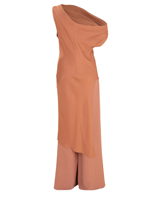CUSHNIE CLOTHINGMISC Draped Tunic and Wide Leg Pant Set
