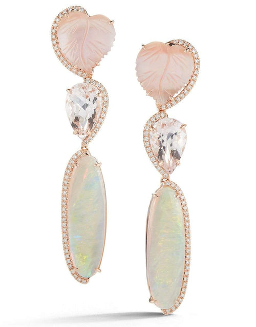 DANA REBECCA DESIGNS JEWELRYFINE JEWELEARRING ROSEGOLD Carved Mother of Pearl Earrings