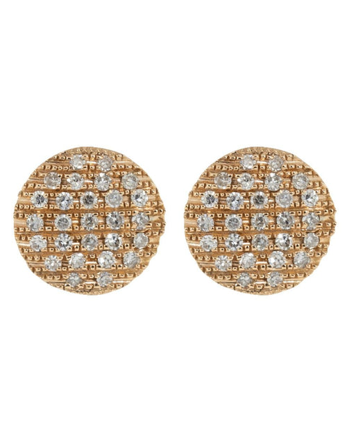 DANA REBECCA DESIGNS JEWELRYFINE JEWELEARRING ROSEGOLD Lauren Joy Medium Disc Studs