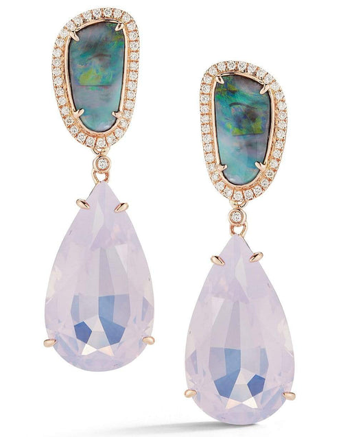 DANA REBECCA DESIGNS JEWELRYFINE JEWELEARRING ROSEGOLD Lavender Quartz Earrings