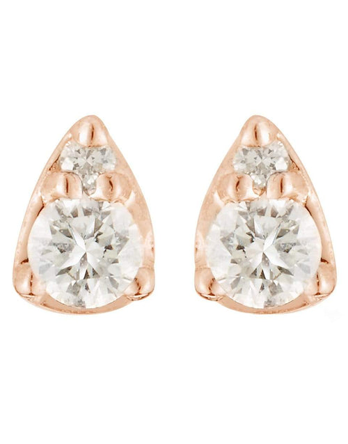 DANA REBECCA DESIGNS JEWELRYFINE JEWELEARRING ROSEGOLD Sophia Ryan Rose Gold Petite Teardrop Studs