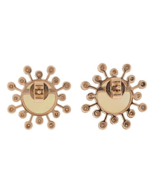 DANA REBECCA DESIGNS JEWELRYFINE JEWELEARRING ROSEGOLD White Opal Stud Earrings