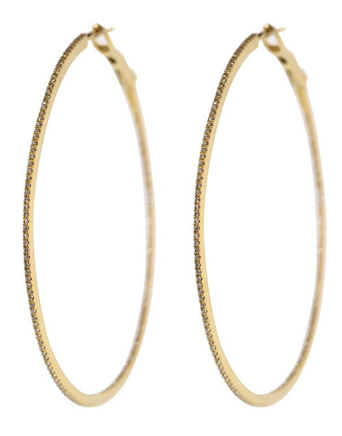 DANA REBECCA DESIGNS JEWELRYFINE JEWELEARRING YLWGOLD DRD Large Diamond Hoops