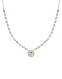 DANA REBECCA DESIGNS JEWELRYFINE JEWELNECKLACE O YLWGOLD Ava Bea Halo Diamond Necklace