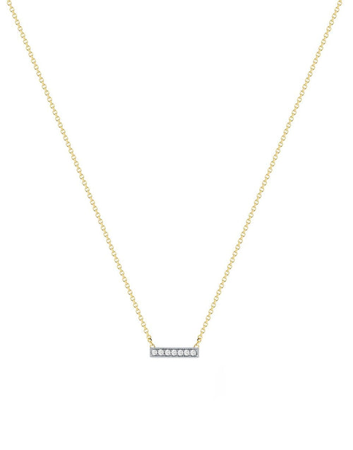 DANA REBECCA DESIGNS JEWELRYFINE JEWELNECKLACE O YLWGOLD Sylvie Rose Diamond Bar Yellow Gold Necklace