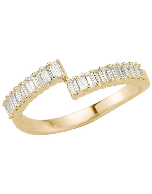 DANA REBECCA DESIGNS JEWELRYFINE JEWELRING YLWGOLD / 7 Yellow Gold Sadie Pearl Split Baguette Diamond Ring