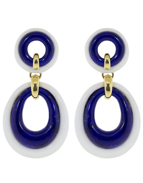 DAVID WEBB JEWELRYFINE JEWELEARRING YLWGOLD Lapis Lazuli Drop Earrings