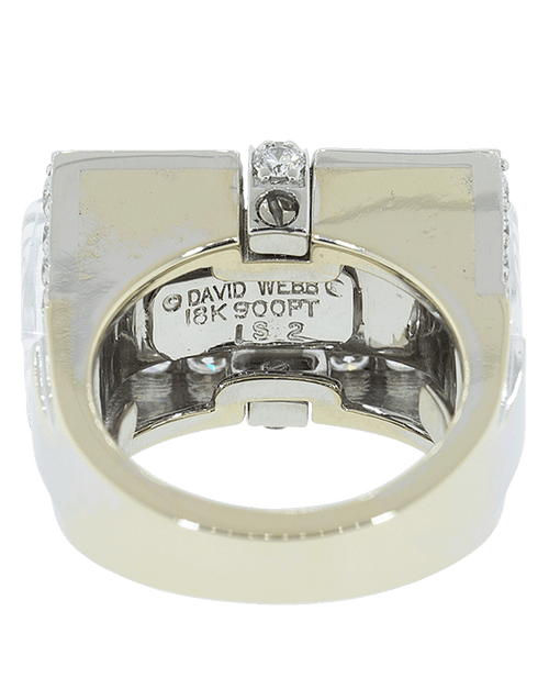 DAVID WEBB JEWELRYFINE JEWELRING WHTGOLD White Tuxedo Ring