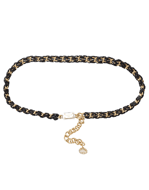 DOLCE & GABBANA ACCESSORIEBELTS Black Chain Belt