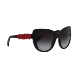 DOLCE & GABBANA ACCESSORIESUNGLASSES BLK/GRY Angular Sunglasses