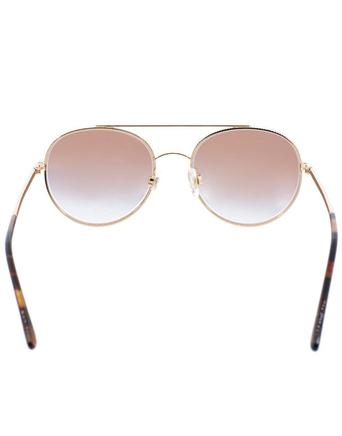 DOLCE & GABBANA ACCESSORIESUNGLASSES PNK/GLD Double Bridge Round Sunglasses