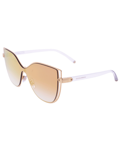 DOLCE & GABBANA ACCESSORIESUNGLASSES PNKGLD Shield Sunglasses