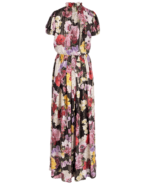 DOLCE & GABBANA CLOTHINGDRESSCASUAL BLACK / 42 Floral Print Long Dress