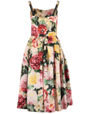 DOLCE & GABBANA CLOTHINGDRESSCASUAL Fitted Floral Organza Dress