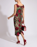 DOLCE & GABBANA CLOTHINGDRESSCASUAL Fitted Leopard Dress
