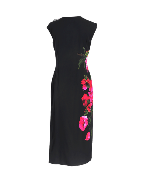DOLCE & GABBANA CLOTHINGDRESSCASUAL Floral Side Dress