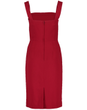 DOLCE & GABBANA CLOTHINGDRESSCASUAL Square Neck Fitted Dress