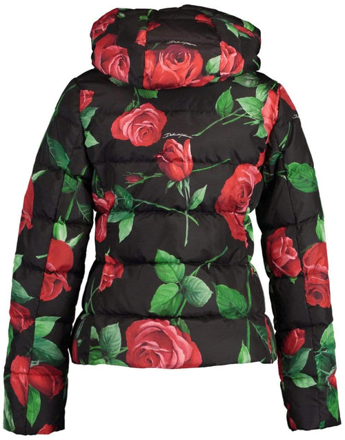 DOLCE & GABBANA CLOTHINGJACKETMISC Rose Print Fitted Down Jacket with Hood