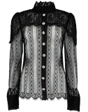 DOLCE & GABBANA CLOTHINGTOPBLOUSE High-Neck Chantilly Blouse