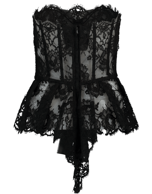DOLCE & GABBANA CLOTHINGTOPMISC NERO / 44 Lace Bustier