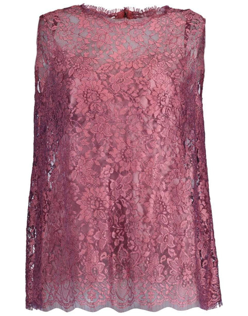 DOLCE & GABBANA CLOTHINGTOPMISC Sleeveless Lace Lame Cami Top