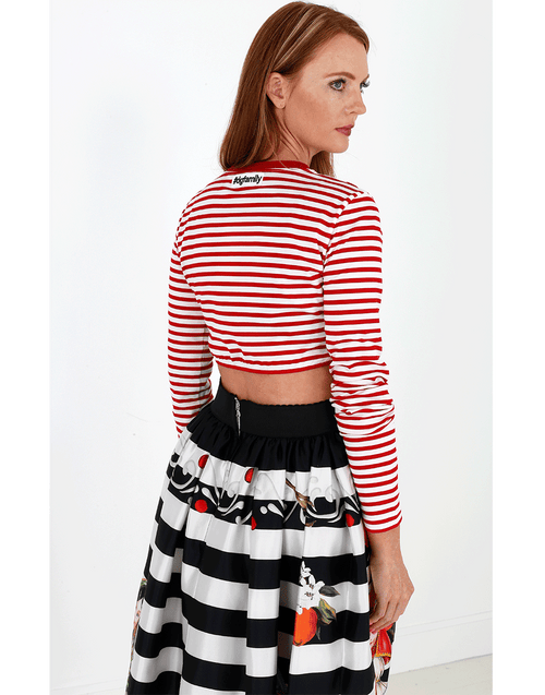 DOLCE & GABBANA CLOTHINGTOPMISC Striped Crop Top