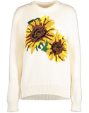 DOLCE & GABBANA CLOTHINGTOPSWEATER WHITE / 42 Sunflower Crewneck
