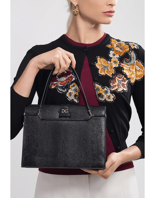 DOLCE & GABBANA HANDBAGTOP HANDLE BLACK Ingrid Top Handle Shoulder Bag