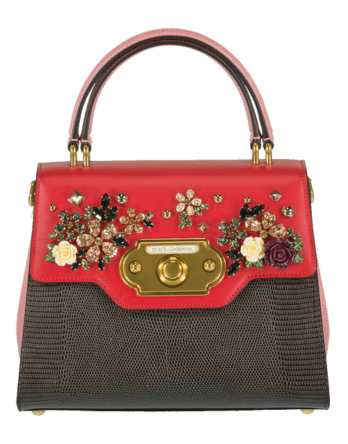 DOLCE & GABBANA HANDBAGTOP HANDLE GRY/PNK Welcome Bag