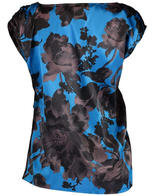 DRIES VAN NOTEN CLOTHINGTOPMISC Black and Blue Ceto Gathered Floral Top