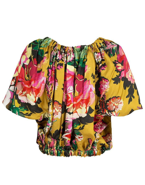 DRIES VAN NOTEN CLOTHINGTOPMISC Cixi Ribbon Off the Shoulder Floral Top