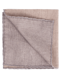 ELEVENTY MENSACCESSORYMISC SAND/GRY Solid Pocket Square with Grey Trim