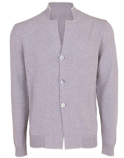 ELEVENTY MENSCLOTHINGSWEATER Light Grey Knit Cardigan Blazer