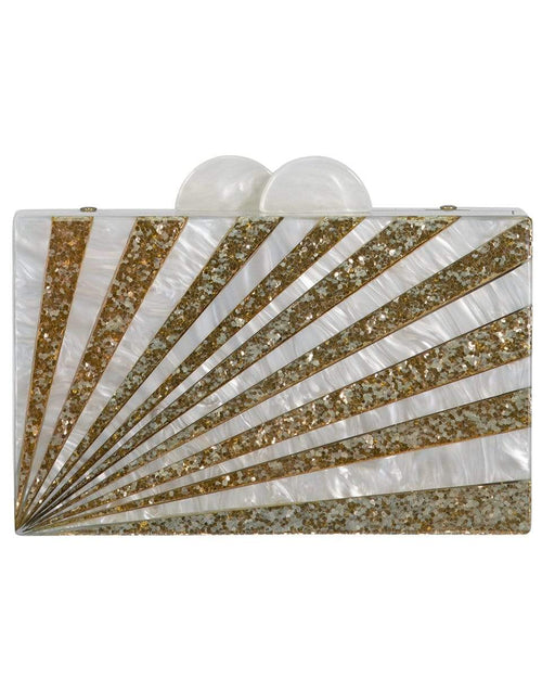 ELIZABETH SUTTON HANDBAGCLUTCHES BLUSH Sunburst Glitter Clutch