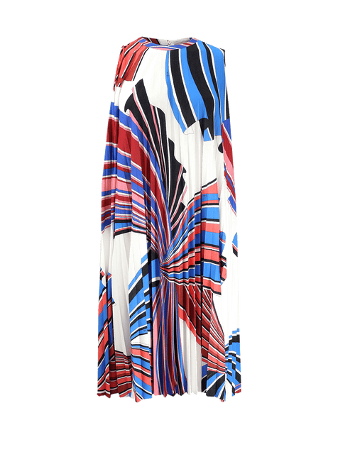 EMILIO PUCCI CLOTHINGDRESSCASUAL BIANCO / 42 Pleated Jersey Print Dress