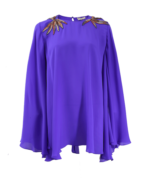 EMILIO PUCCI CLOTHINGTOPBLOUSE Embellished Shoulder Kaftan Blouse