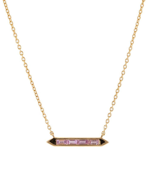 EMILY P WHEELER JEWELRYFINE JEWELNECKLACE O ROSEGOLD Pink Sapphire Line Necklace