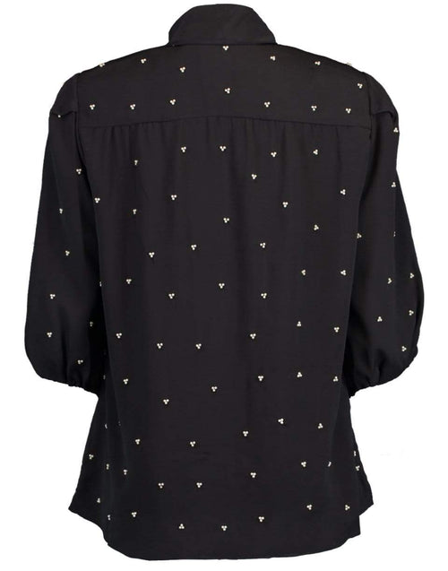 ERDEM CLOTHINGTOPBLOUSE Black Bead Embellished Dolly Top