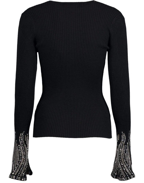 ERMANNO SCERVINO CLOTHINGTOPSWEATER Crystal Cuff Slim Knit