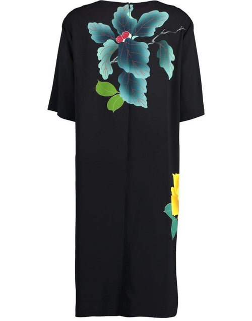 ETRO CLOTHINGDRESSCASUAL BLACK / 50 Short Sleeve Floral Print Dress